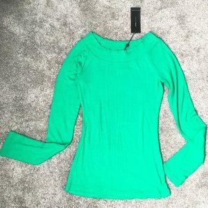NWT BCBGMaxAzria Green Long Sleeve Top - Size S
